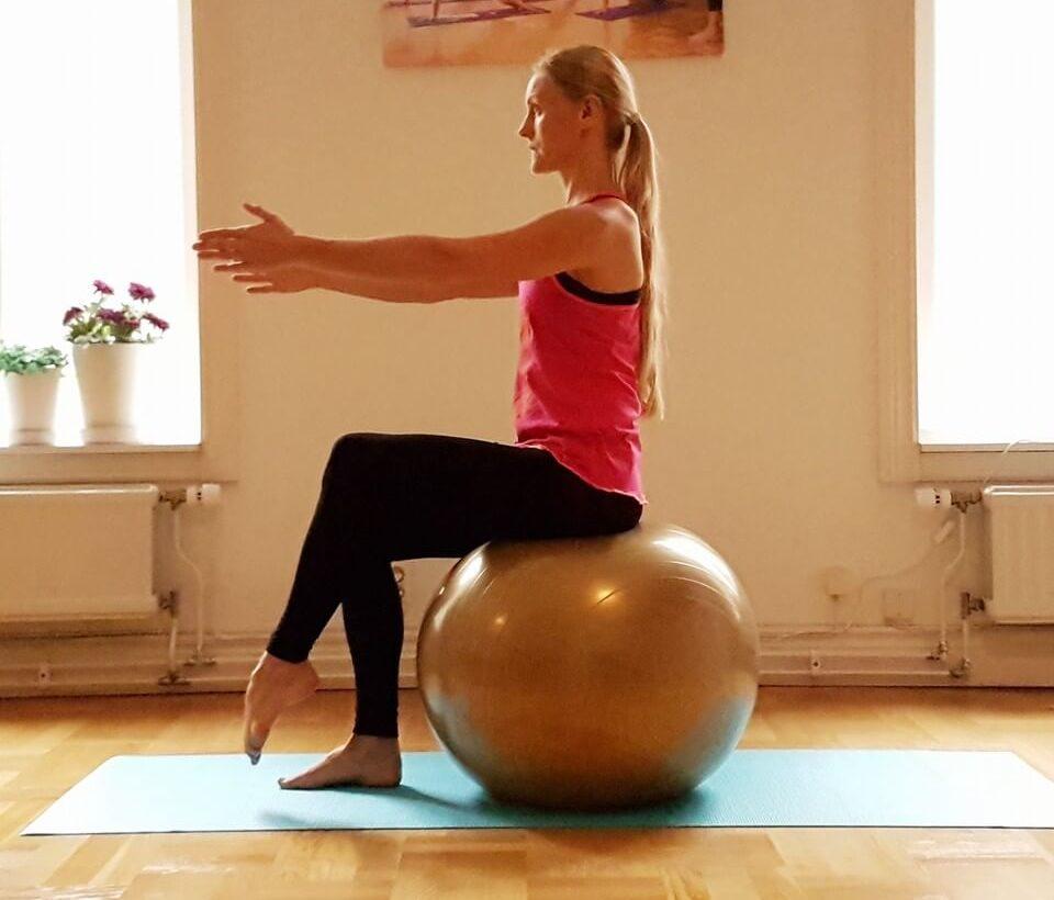 yogaboll sittande balans